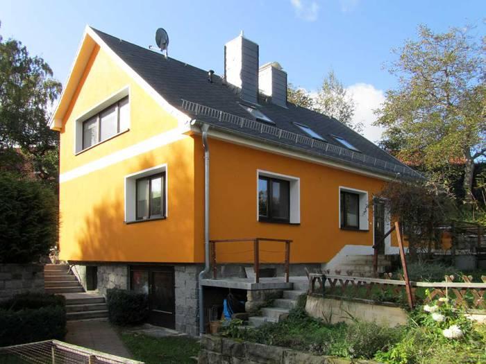 Fassadengestaltung einfamilienhaus grau orange  Fassadengestaltung - Maler Dresden Malermeister Wemcken